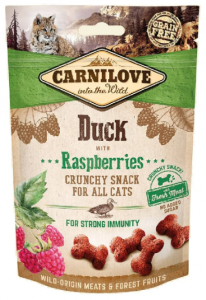 Carnilove Cat Crunchy Snack Duck & Raspberries 50g