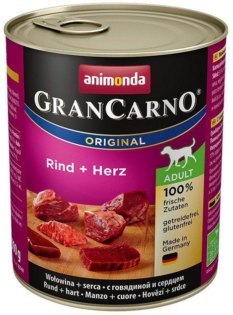 Animonda GranCarno Adult Rind Herz Wołowina + Serca 800g
