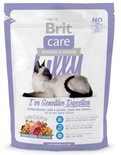 Brit Care Cat Lilly Sensitive Digestion Lamb & Salmon 400g