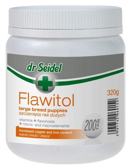 Dr Seidel Flawitol dla szczeniąt ras dużych 200 tabletek