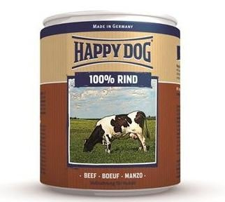 6x Happy Dog Rind Puszka 100% Wołowina 800g