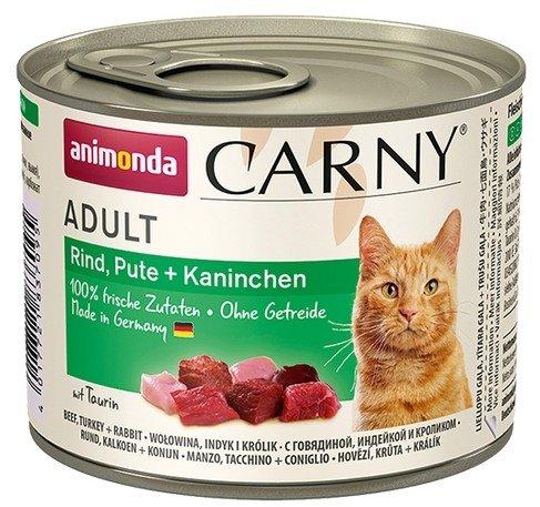 Animonda Carny Adult Indyk + Królik puszka 200g