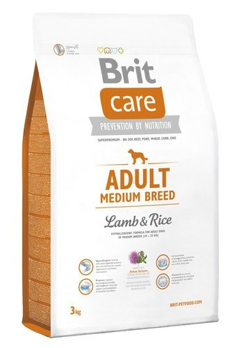 Brit Care Adult Medium Breed Lamb and Rice 3kg