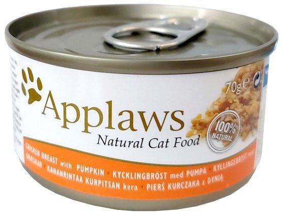 Applaws puszka dla kota Kurczak i Dynia 70g