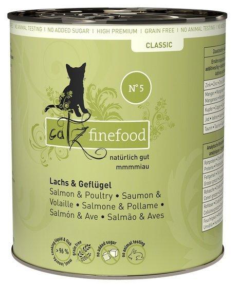 Catz Finefood N.05 Łosoś puszka 800g