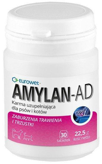 Eurowet Amylan AD - zaburzenia trawienia 30 tabletek