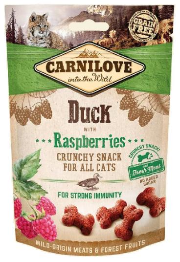 Carnilove Cat Crunchy Snack Duck & Raspberries 50g