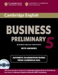Cambridge English Business 5 Preliminary Self-study Pack Student's Book with Answers and Audio CD
