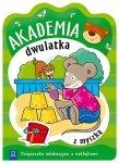 Akademia dwulatka z myszką Książeczka edukacyjna z naklejkami