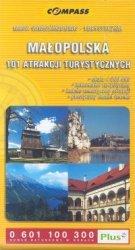 Małopolska 101 atrakcji turystycznych Mapa samochodowo-turystyczna