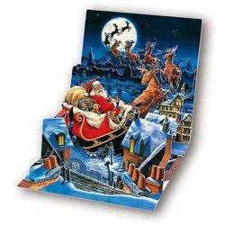 Kartki 3D Santa's Sleigh Ride