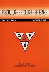 Psychologia etologia genetyka 27/2013