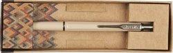 Długopis Zenith 7 Retro  w etui - kolor beżowy
