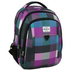 Plecak młodzieżowy 17 D 31 pastelowa krata