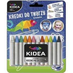 Kredki do twarzy Kidea 12 kolorów