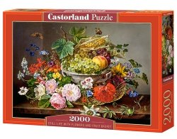 Puzzle Still Life with Flowers and Fruit Basket 2000