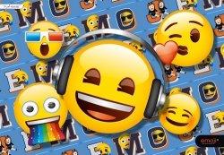 Podkład szkolny na biurko Emoji 5 sztuk