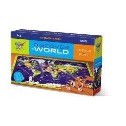 Puzzle odkrywcy Świat 100