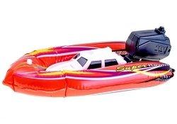 Dmuchana motorówka łódź do wody z pompką czerwona