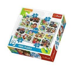 Puzzle 4w1 Wspólna zabawa Nickelodeon