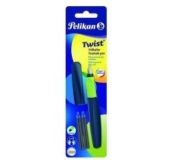 Pióro wieczne Pelikan Twist P457 M Apple Blue +2 naboje