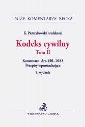 Kodeks cywilny Tom II Komentarz do artykułów 450-1088. Przepisy wprowadzające