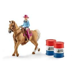 Farm World Kowbojka w wyścigu przez beczki