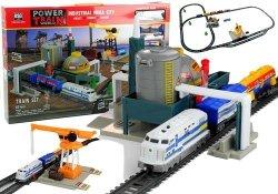 Zestaw Tory Pociąg Fabryka Przemysłu 670 cm 61 Elementów