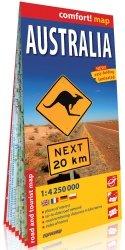 Australia laminowana mapa samochodowo-turystyczna 1:4 250 000