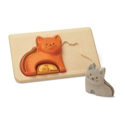 Koty - Puzzle drewniane