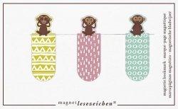 Zakładki Magnetyczne Małpki 3 sztuki
