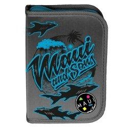 Piórnik z wyposażeniem Maui and Sons czarno-niebieski