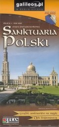 Sanktuaria Polski - mapa pielgrzymkowa, 1:900 000