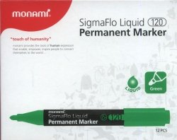 Marker permanentny Monami SigmaFlo 120 zielony 12 sztuk