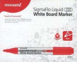 Marker do tablic Monami SigmaFlo 220 czerwony 12 sztuk