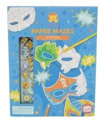 Maski papierowe do zdobienia zestaw niebieski