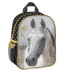 Plecak przedszkolny Paso Horse złote serduszka
