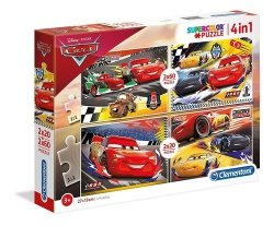 Puzzle Supercolor Auta 2 x 20 + 2 x 60