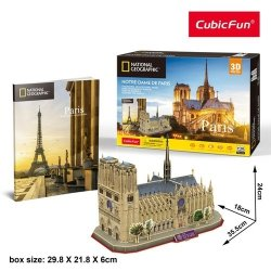 Puzzle 3D National Geographic Notre-Dame