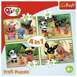 Puzzle 4w1 Wesoły dzień Binga
