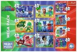 Puzzle 10w1 Dzielni Pidżamersi