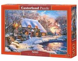 Puzzle 500 Winter Cottage