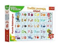 Puzzle edukacyjne Trefliki poznają alfabet 30