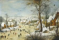 Puzzle Winter Landscape w Skaters 1000