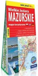 Wielkie Jeziora Mazurskie papierowa mapa turystyczna 1:60 000