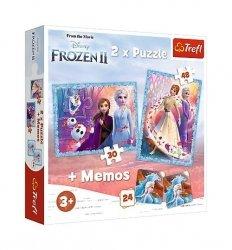 Puzzle 2w1 + memos -Kraina Lodu