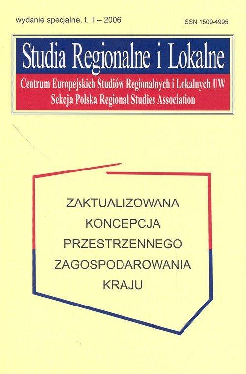 Studia Regionalne i Lokalne. Zaktualizowana koncepcja przestrzennego zagospodarowania kraju