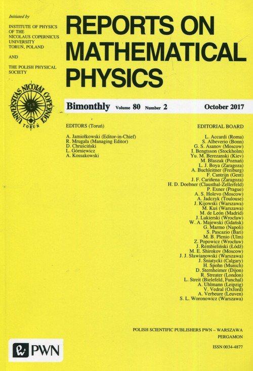 Reports on Mathematical Physics 80/2 2017