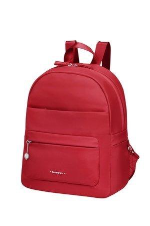 Plecak mały damski  damski wykonany ze 100% nylonu. Plecak na zewnątrz posiada dwie kieszenie zamykane na suwak