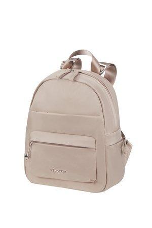 Plecak mały damski w rozmiarze S damski wykonany ze 100% nylonu. Plecak na zewnątrz posiada dwie kieszenie zamykane na suwak